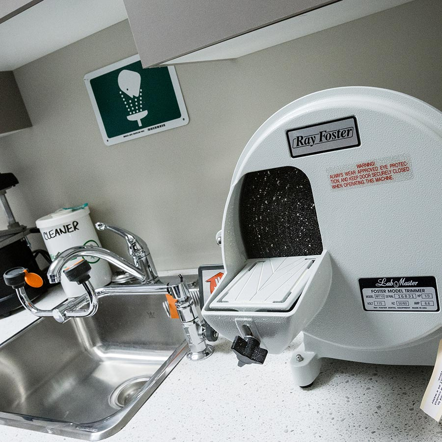 Some of our equipment in the dental treatment room